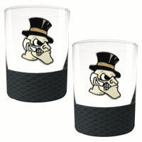 Wake Forest Demon Deacons 2-Pack 14oz. Rocks Glass Set with Silcone Grip