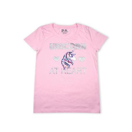 Unicorn at Heart Sequin Graphic T-Shirt (Little Girls & Big Girls)