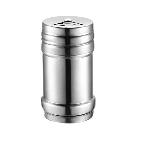 Stainless Steel Dredge Salt/Sugar/Spice/Pepper Shaker Seasoning Cans with Rotating Cover 79mmLx44mmD
