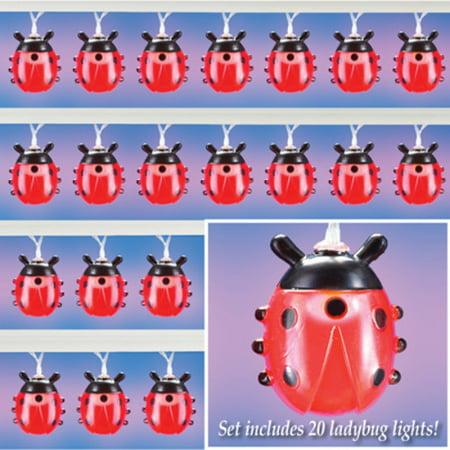 Red Lady Bug LED String Lights ()