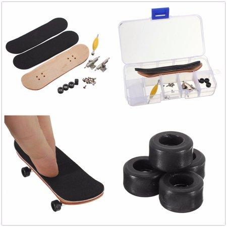 Skate Deck Art - Brain Development New Finger Skateboard Deck Mini Board Games Toy Gift- Maple fingerskateboard Wood Finger Skate Board Blue Grit Foam Tape