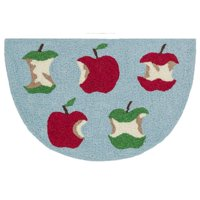 "Alexander Home Hand-hooked Marcy Red/ Green Apple Hearth Rug (1'9 x 2'9) - 1'9"" x 2'9"" Hearth"