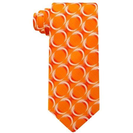 Scott Allan Mens Geometric Necktie - Burnt Orange Mens Tie
