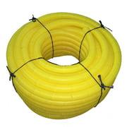 "Flexible Corrugated LDPE Split Loom Tubing - Yellow - 1/2"" Dia. x 100 ft"