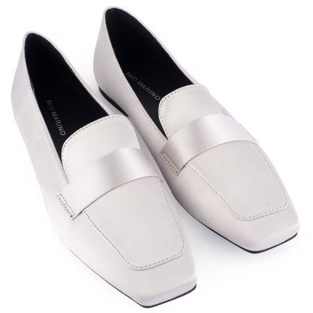 77f61e46034 Mio Marino Loafers For Women Womens Dress Shoes Square Toe Satin