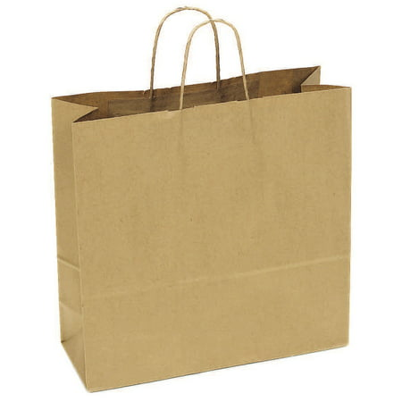 JAM Paper Shopping Bag, Large Wide, 16
