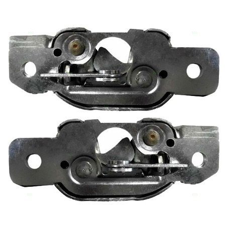 Driver and Passenger Tailgate Latch Brackets Replacement for Ford Pickup Truck E8TZ-99431D77B -