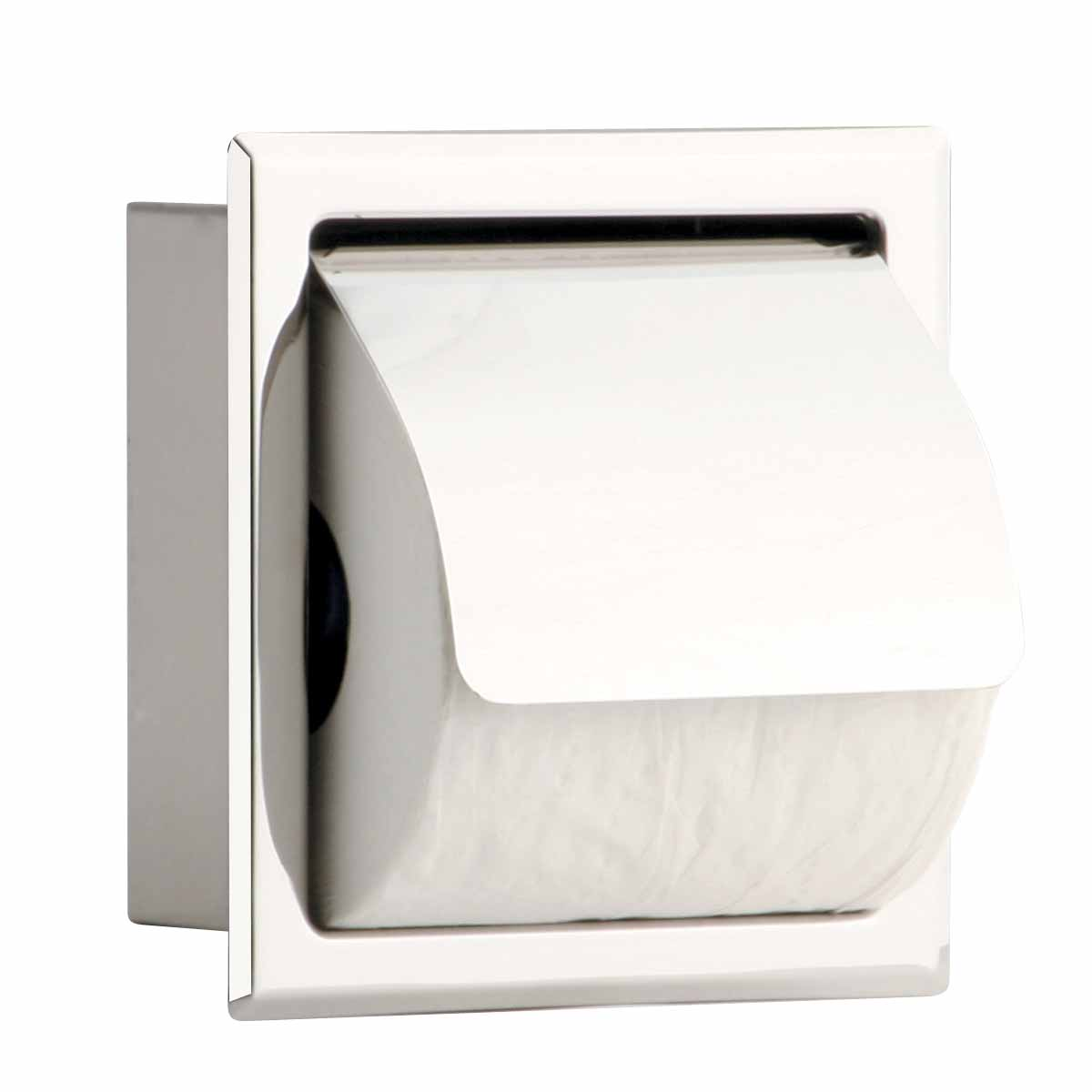 Toilet Paper Holder Stainless Steel Polished With Lid Renovator S Supply