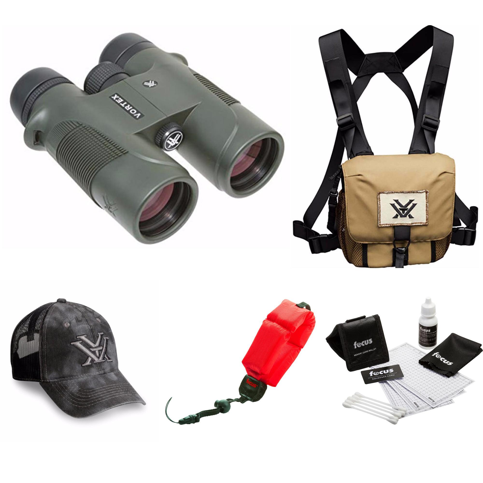Vortex Diamondback 10x42 Binocular   + Glasspak Harness Bundle