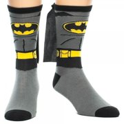 Batman Socks Mens Cape Crew Superhero Costume Adult Shoe Size 8-12