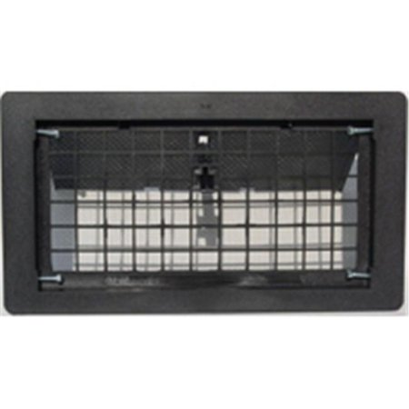 Vented Vent - Witten Automatic Vent 500BL Manual Foundation Vent With Damper Black