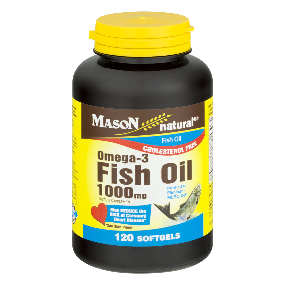 Mason Vitamins Fish Oil Omega-3, 1000mg, 200ct