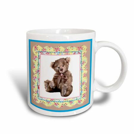 (3dRose Teddy Rose, Ceramic Mug, 11-ounce)