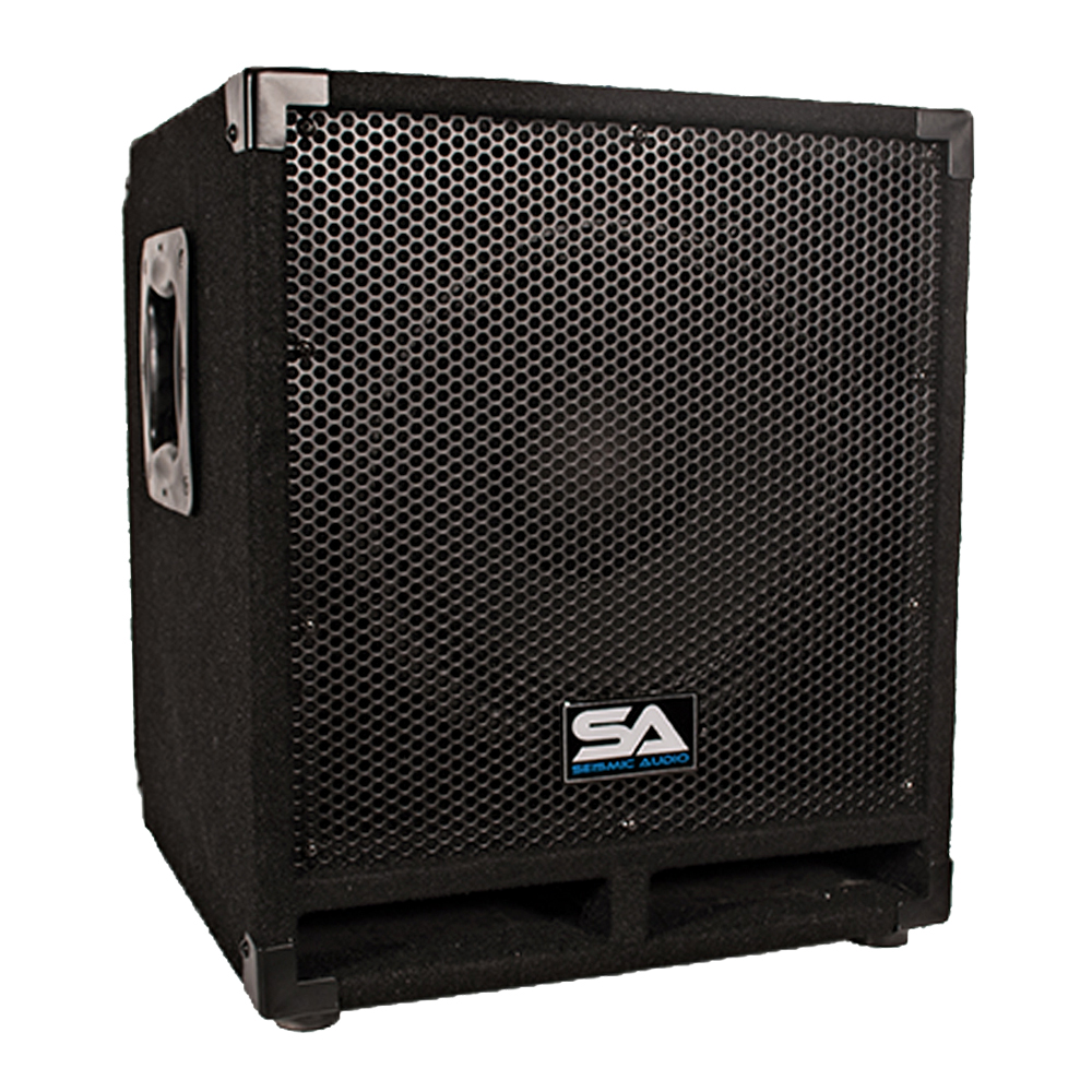 "Seismic Audio  - Powered 12"" Pro Audio Subwoofer Cabinet - PA / Band / DJ / KJ - Mini-Tremor"