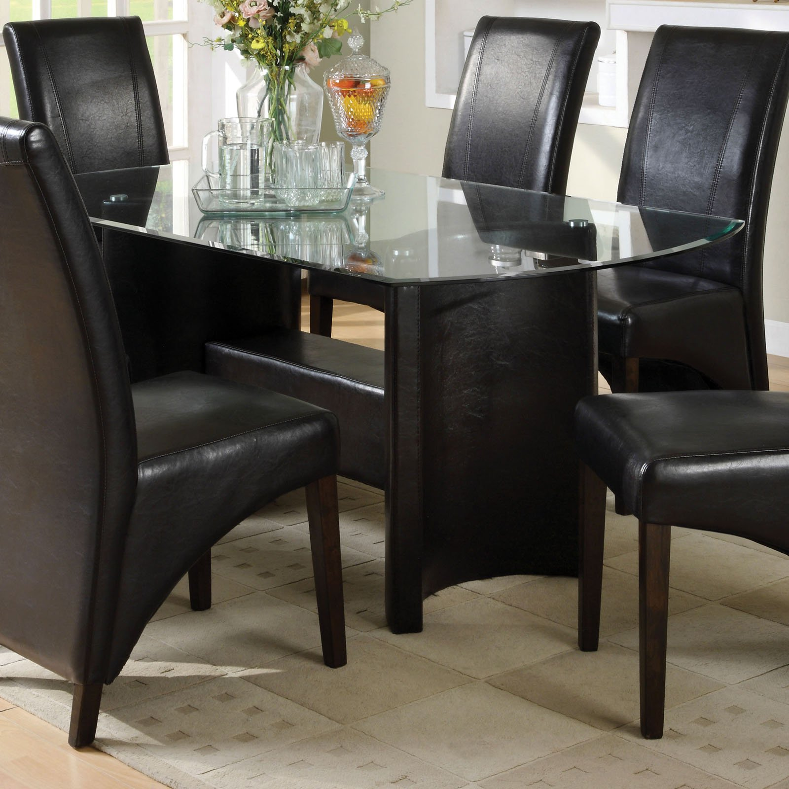 Furniture of America Briana Oval Dining Table