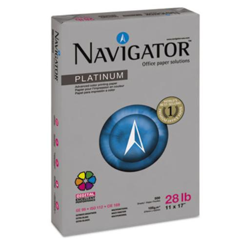 Navigator NPL1728 Platinum Paper, 99 Brightness, 28lb, 11 X 17, White, 2500/carton