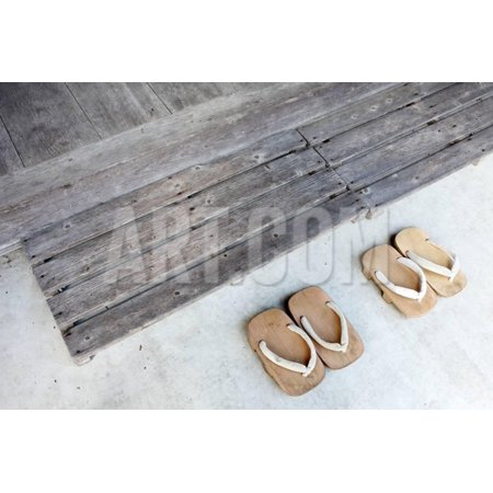 Japanese Wooden Sandals Print Wall Art By Akiyoko49 Walmart Com