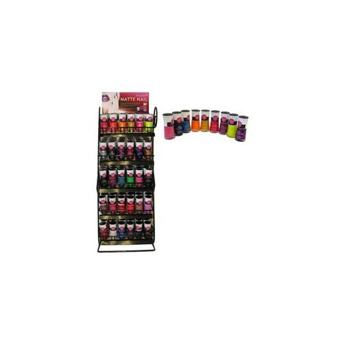Deluxe Import Trading 47-200 Matte Nail Polish Hot New Style - 180 Packs