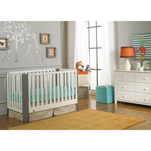 Fisher-Price Jaxon 3-in-1 Convertible Crib with Bonus Mattress