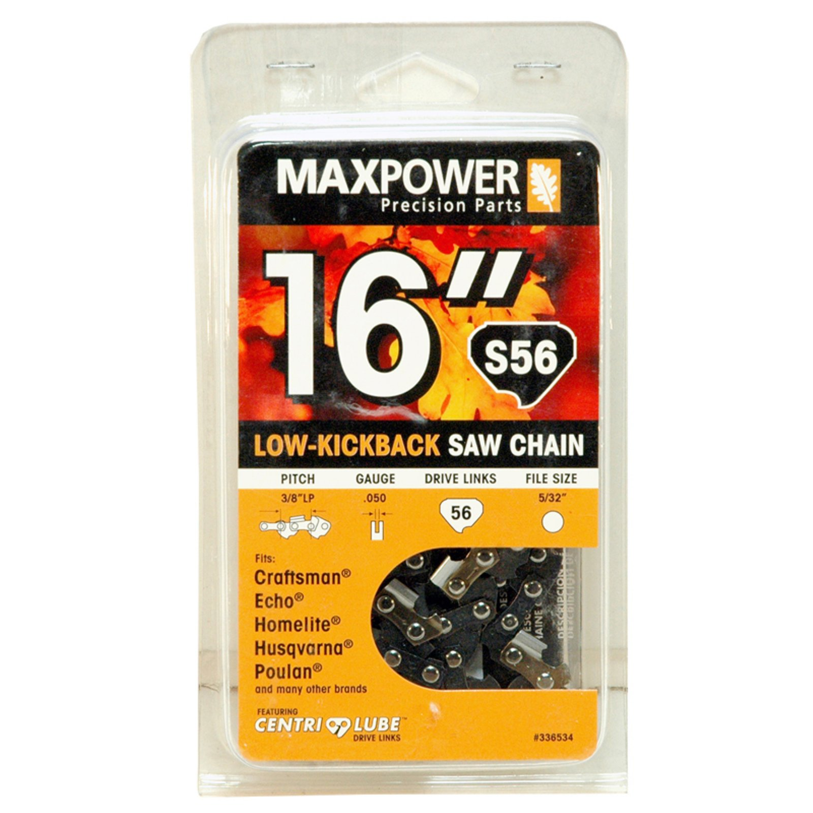 """Maxpower 336534N 16"""" Replacement Chainsaw Chain"""