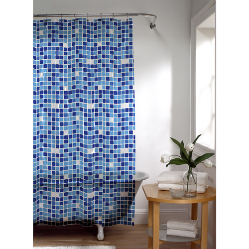 Maytex Tiles PEVA Vinyl Shower Curtain