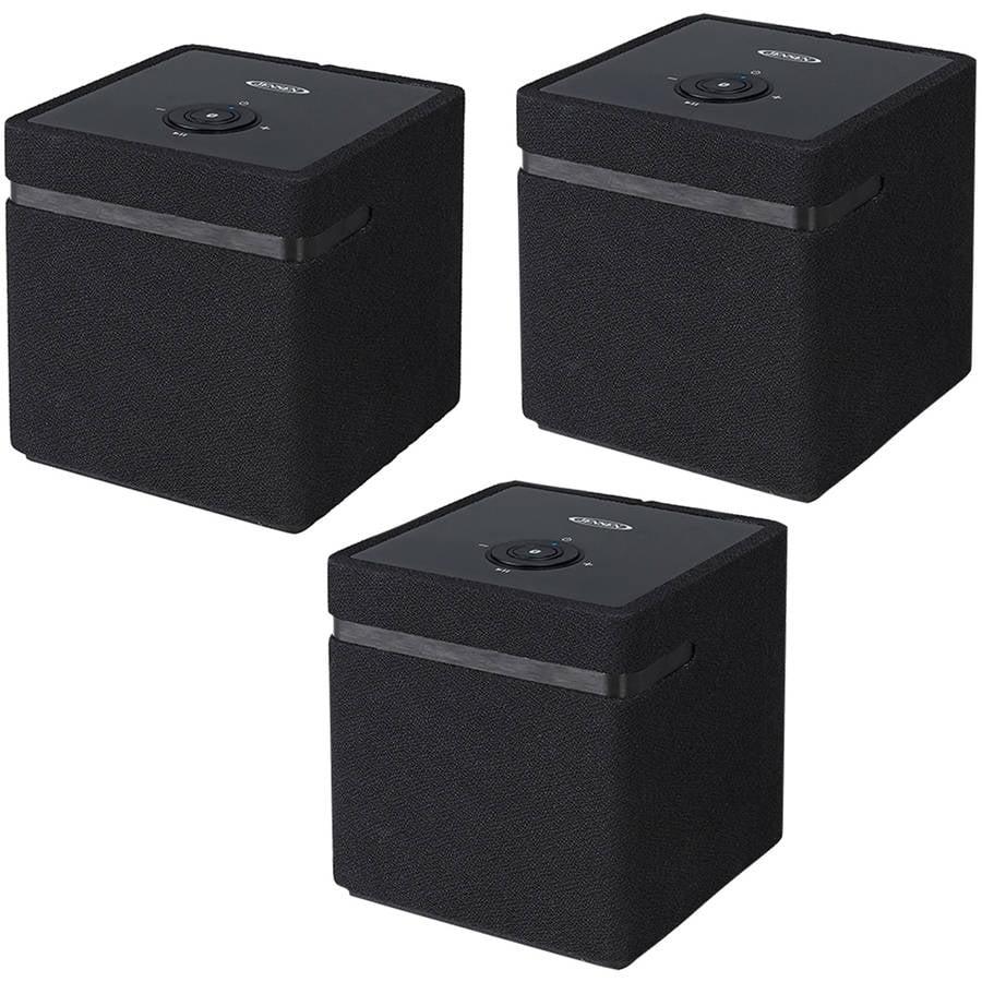 Jensen JSB-1000 Bluetooth WiFi Stereo Smart Speaker with Chromecast, 3-Pack by Jensen