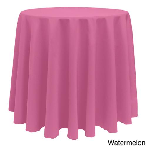 Solid Color 90-inches Round Colorful Tablecloth WATERMELON