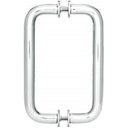 Showerdoordirect 66wwbn 6 In Tubular Back To Back Shower Door Pull Handles With Washers Brushed Nickel Walmart Canada