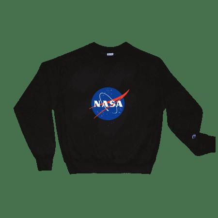 Unisex Champion NASA Logo Print Crew Neck Sweatshirt