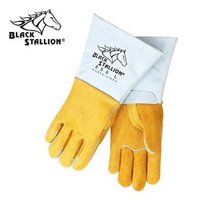 Flame Resistant Gloves - Revco 850M Flame Resistant Nomex Lined Elkskin Stick Welding Gloves M