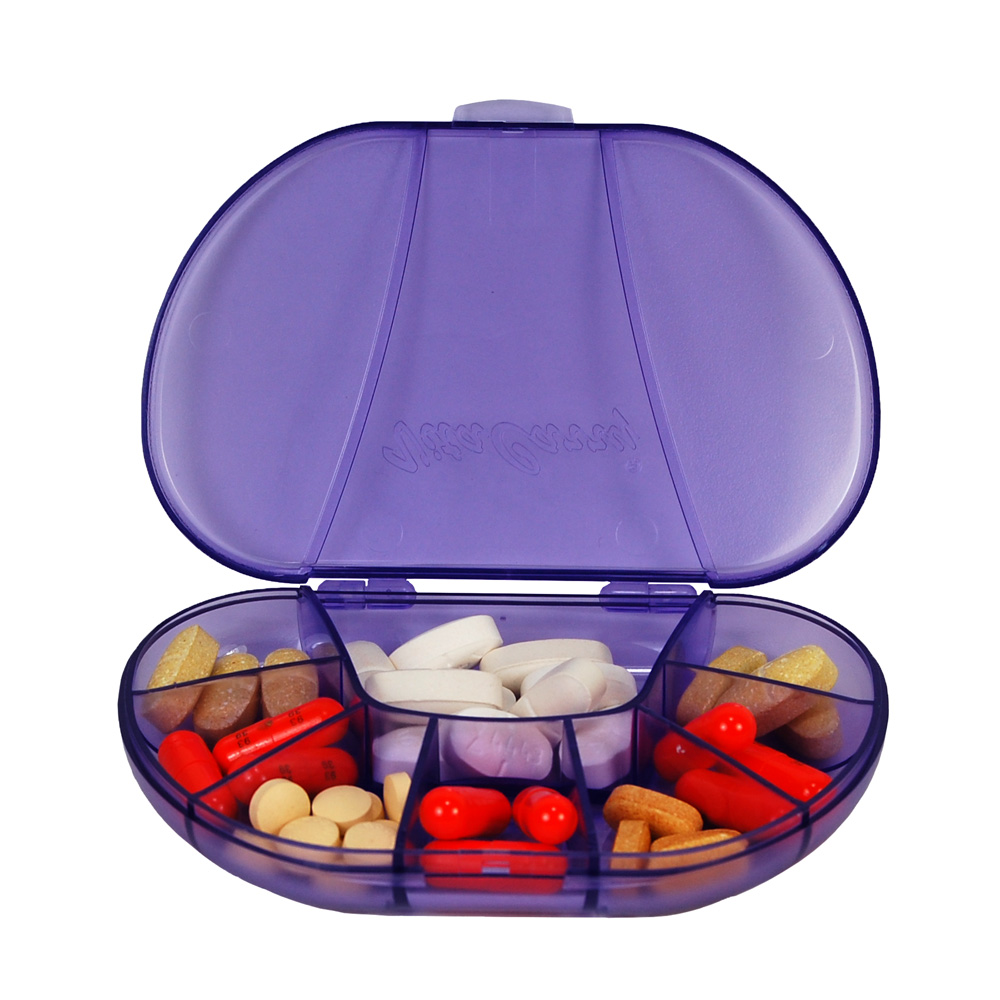 VitaCarry 8 Compartment Multi-Day Pill Box (Transparent Purple)