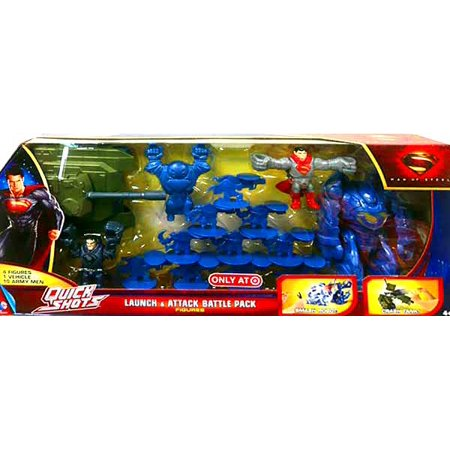 Superman Quick Shots Launch & Attack Battle Pack Figure Set