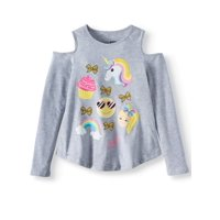 Nickelodeon JoJo Siwa Cold Shoulder Long Sleeve Graphic T-Shirt (Little Girls & Big Girls)