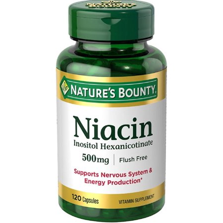 Free Test 100 Capsules - Nature's Bounty Flush-Free Formula Niacin Capsules, 500 Mg, 120 Ct