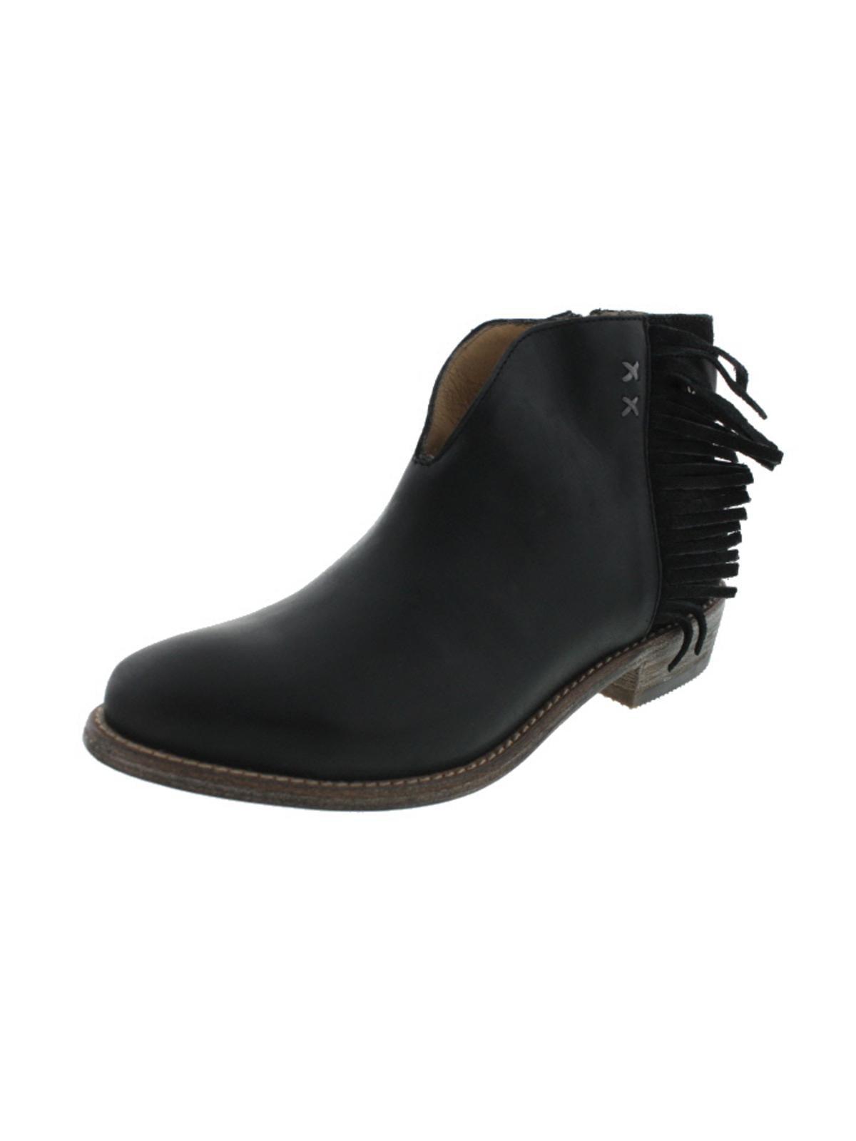 Koolaburra Womens Dallas Leather Fringe Ankle Boots by Koolaburra