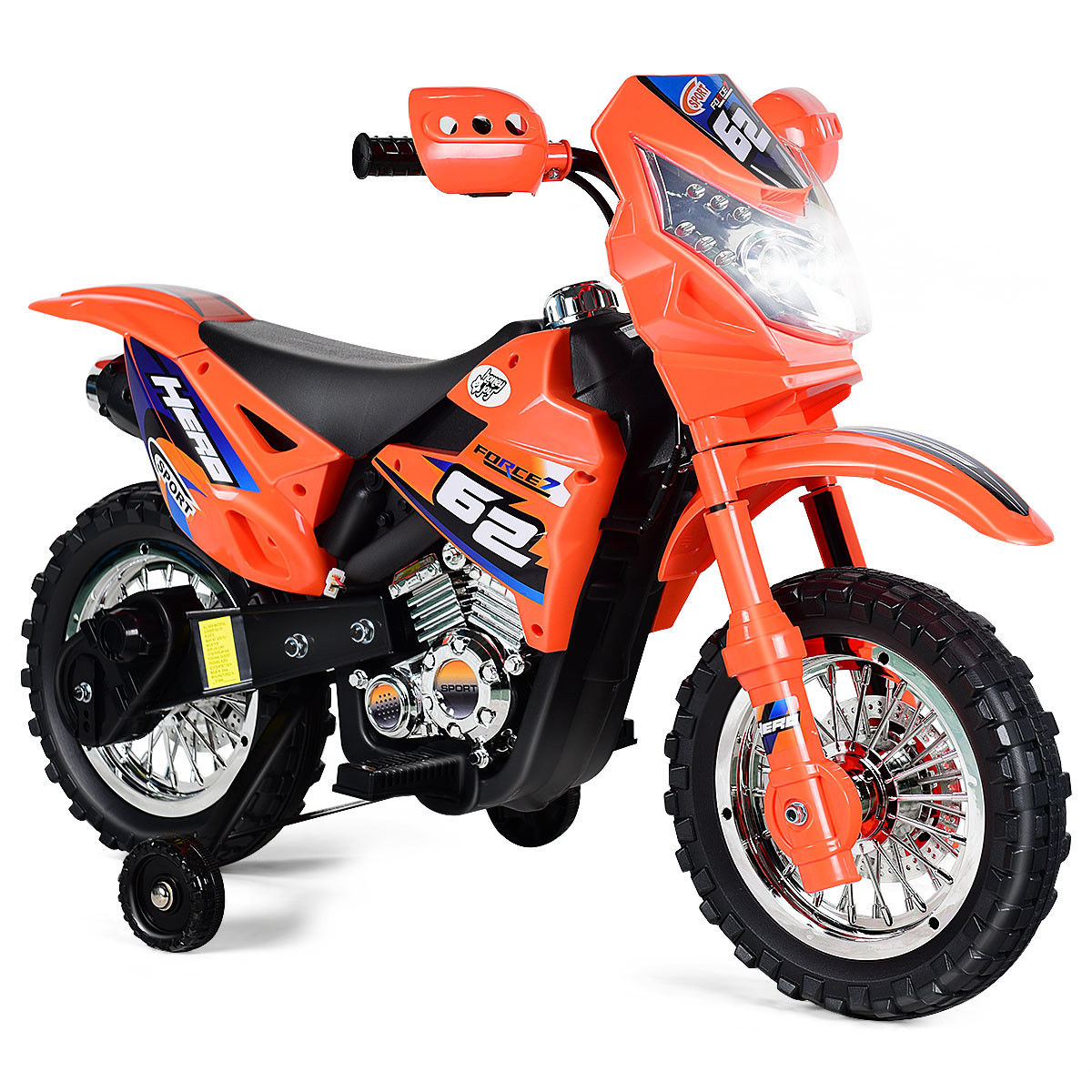 Click here to buy Costway Kids Ride On Motorcycle with Training Wheel 6V Battery Powered Electric Toy by Costway.