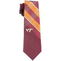 Virginia Tech Hokies Woven Poly Grid Tie