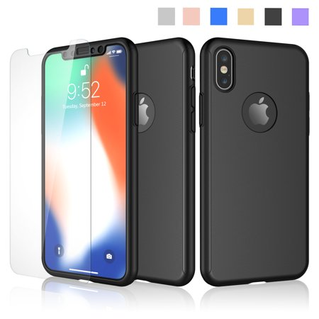 wholesale dealer 56c0f 288dc Cases For Apple iPhone XS Max / iPhone XS / iPhone XR / iPhone X, Njjex  Ultra Thin Hard Slim Case Full Protective With Tempered Glass Screen  Protector ...