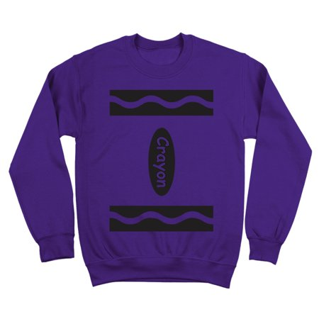 Adult Crayon Costume Outfit Crewneck Sweatshirt
