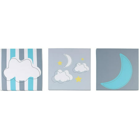 Little Bedding By Nojo Twinkle 3 Pack Wall Art