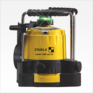 Stabila Type LAR120 Green Beam Self-Leveling Rotating Laser Kit 05300 by Stabila