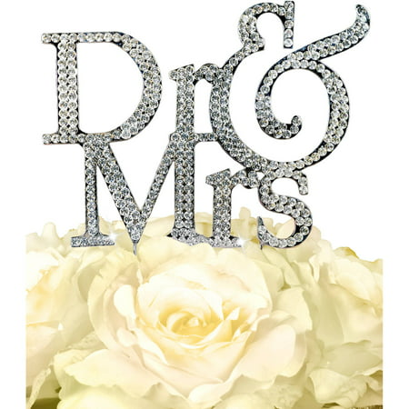 Unik Occasions Sparkling Collection Dr and Mrs Cake - Dr Topper