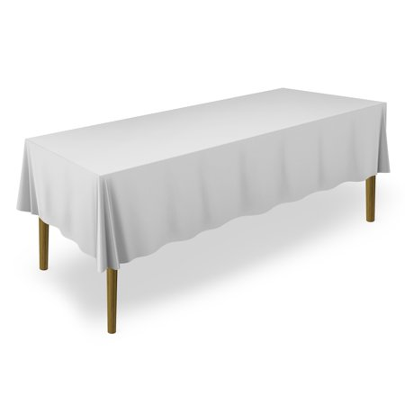 Lann's Linens - Premium Tablecloth for Wedding / Banquet / Restaurant - Rectangular Polyester Fabric Table Cloth (Multiple Colors & Sizes)