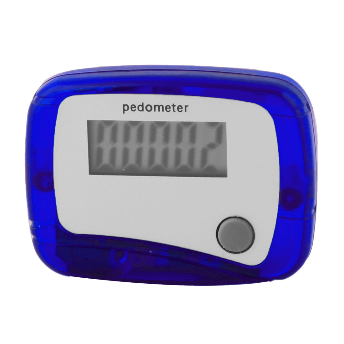 Blue Shell 5 Digits LCD Display Digital Step Counter Pedometer w Clip