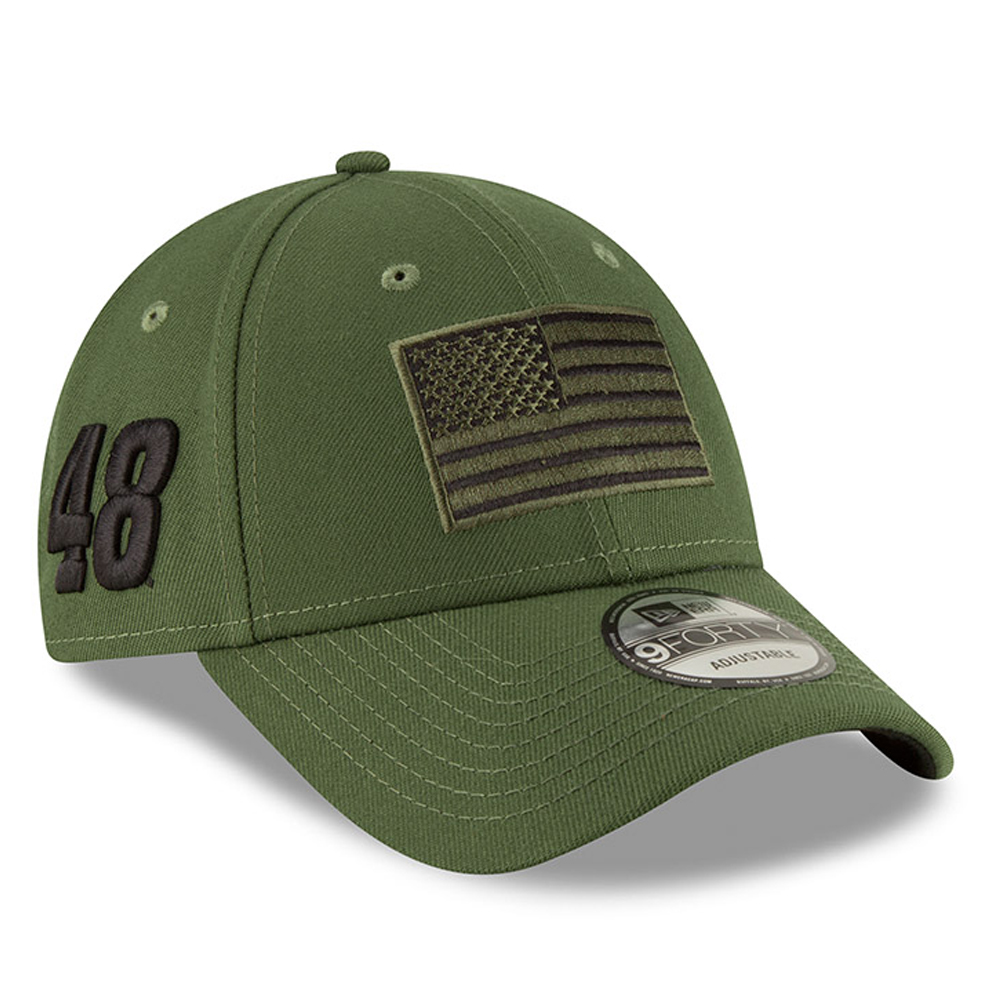 Jimmie Johnson New Era Military Salutes 9FORTY Snapback Adjustable Hat - Green - OSFA