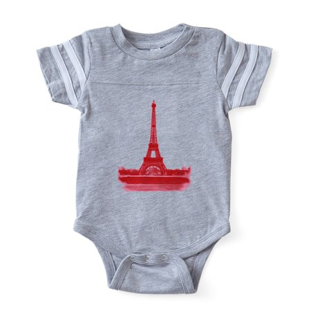 CafePress - Pink And Red Eiffel Tower - Cute Infant Baby Football (Cats Pajamas Eiffel Tower)