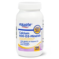Equate Calcium 600 + D3 + Minerals Tablets, 120 Count