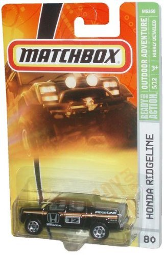 HONDA RIDGELINE Matchbox 2008 80 Outdoor Adventure Series 5 of 12 Honda Ridgeline Black... by Mattel