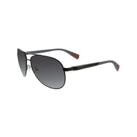 4328616b2a98 Prada - Prada Men's Polarized PS51OS-7AX5W1-62 Black Aviator Sunglasses -  Walmart.com