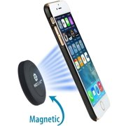 WizGear Universal Flat Stick On Dashboard Magnetic Car Mount Holder for Cell Phones and Mini Tablets with Fast Swift-Snap Technology - Extra Slim